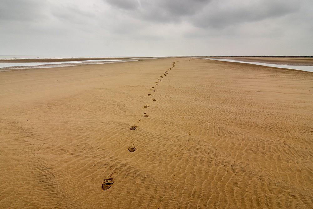 Theddlethorpe Beach, Lincolnshire. Footsteps.
