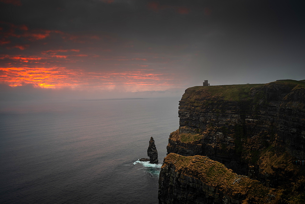 Cliffs of Moher at sunset, County Clare, Munster, Republic of Ireland, Europe