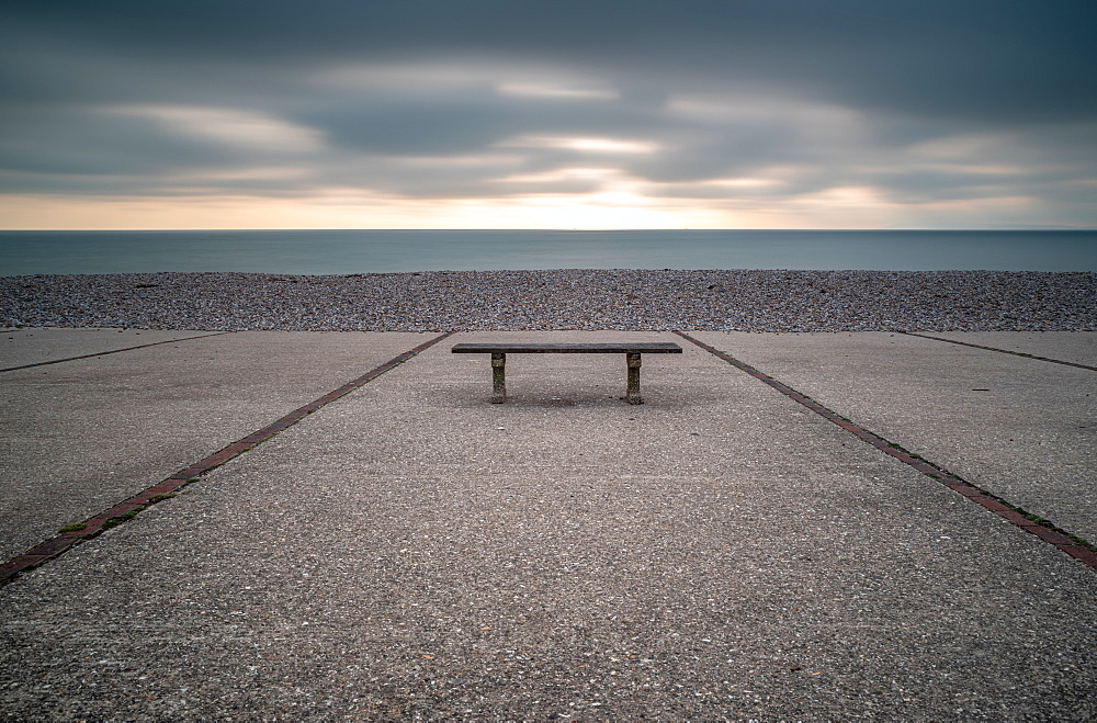 Bench, East Wittering, Sussex. - 1209-294