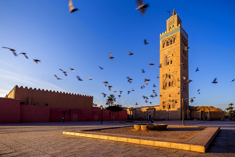 The minaret of the Koutoubia Mosque, Marrakech, Morocco, North Africa, Africa