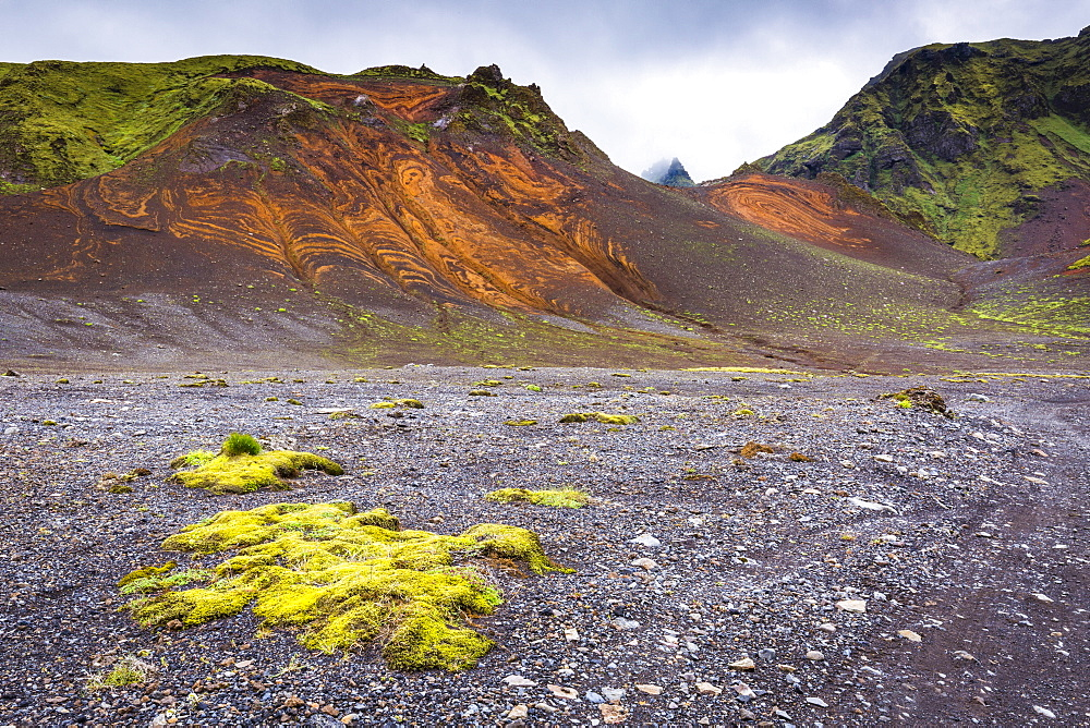 The Landmannalaugar region of the Fjallabak Nature Reserve in the Highlands of Iceland, Polar Regions