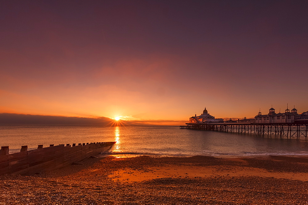 Sunrise at Eastbourne Pier, Eastbourne, East Sussex, England, United Kingdom, Europe - 1213-81