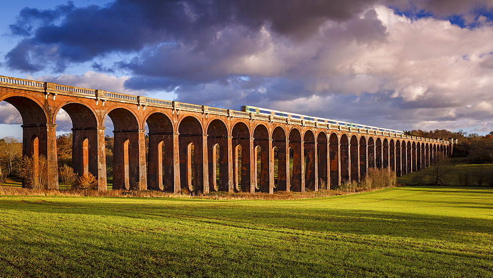 The Ouse Valley Viaduct (Balcombe Viaduct) over the River Ouse in Sussex, England, United Kingdom, Europe - 1213-99