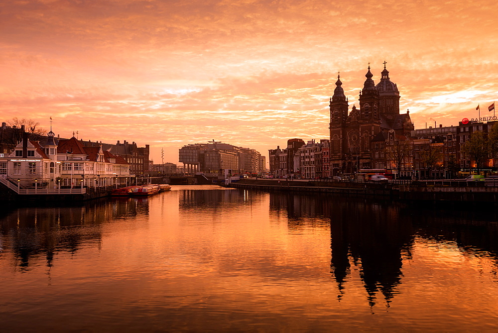 Sunrise, Amsterdam, Netherlands, Europe