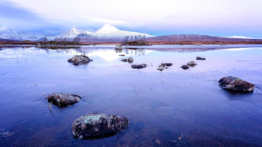 Lochan na h-Achlaise, Highlands, Scotland, United Kingdom, Europe - 1216-126