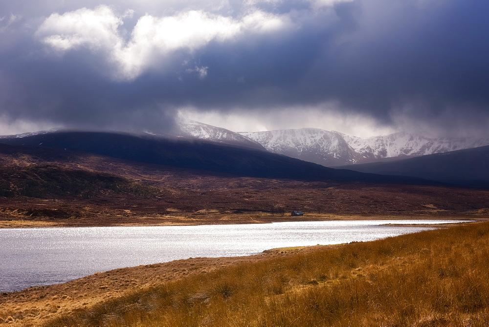Stormy Scottish Highlands, Scotland. United Kingdom, Europe