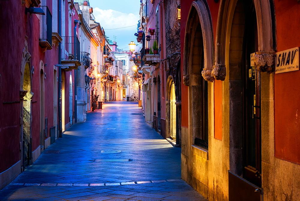 Taormina Street, Taormina, Sicily, Italy, Europe - 1216-132