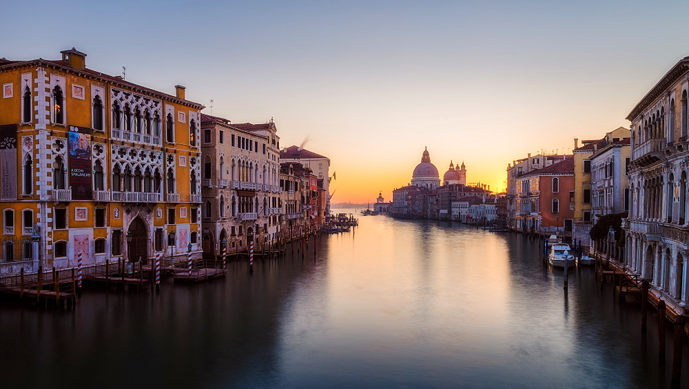 Sunrise at the Grand Canal, Venice, UNESCO World Heritage Site, Veneto, Italy, Europe