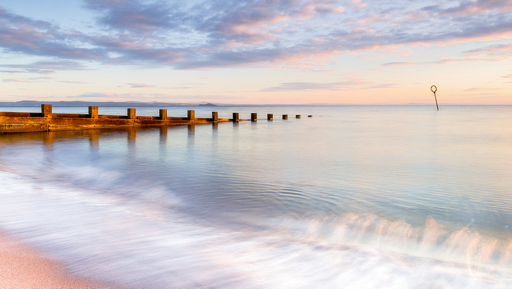 Sunrise at Portobello Beach, Edinburgh, East Lothian, Scotland, United Kingdom, Europe