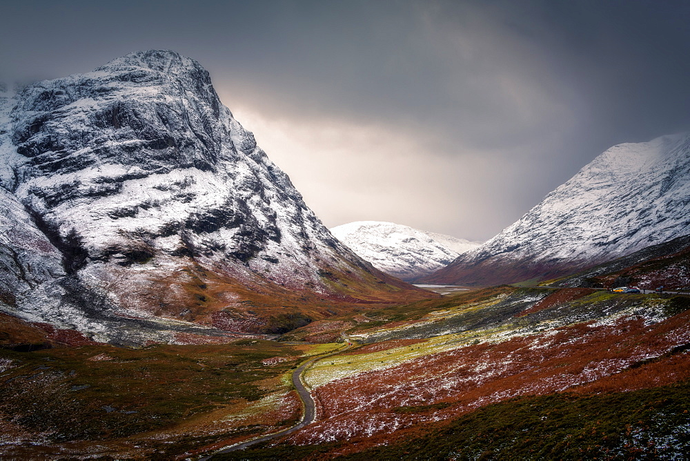 Glencoe in winter, Highland Region, Scotland, United Kingdom, Europe - 1216-213