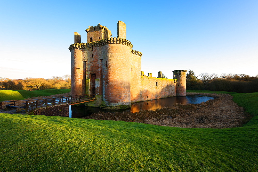 Caerlaverock Castle, Dumfries, Scotland, United Kingdom, Europe - 1216-238