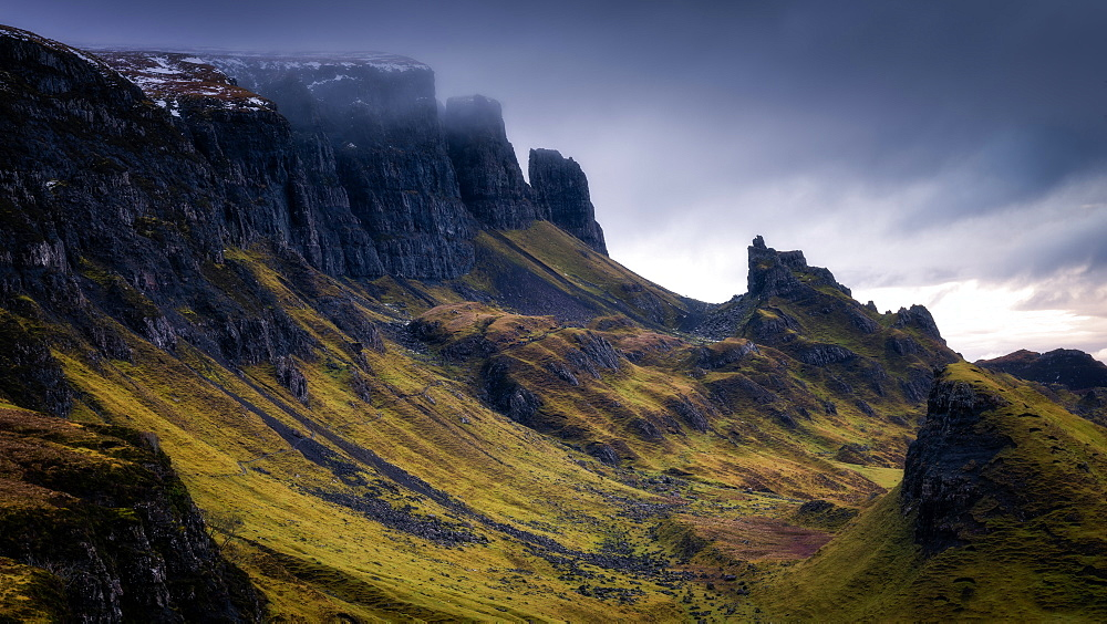 The Quiraing, Isle of Skye, Inner Hebrides, Scotland, United Kingdom, Europe - 1216-246