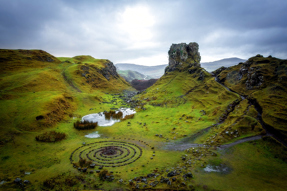 Fairy Glen, Isle of Skye, Inner Hebrides, Scotland, United Kingdom, Europe - 1216-256
