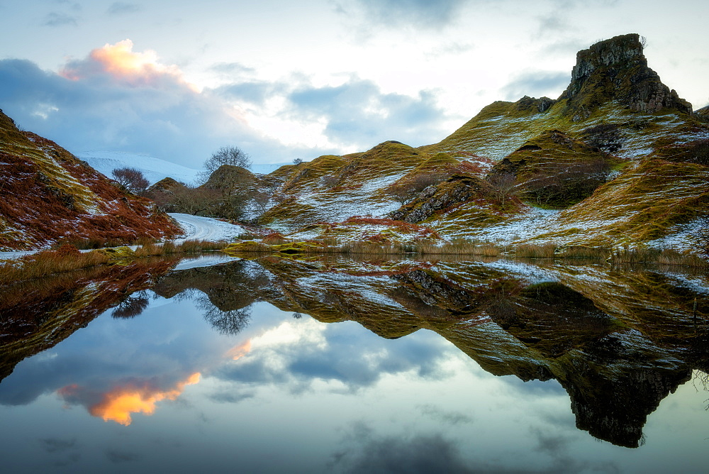 Fairy Glen at sunrise, Isle of Skye, Inner Hebrides, Scotland, United Kingdom, Europe - 1216-258