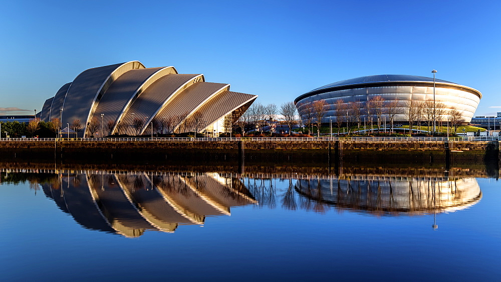 Armadillo and Hydro, Pacific Quay, Glasgow, Scotland, United Kingdom, Europe