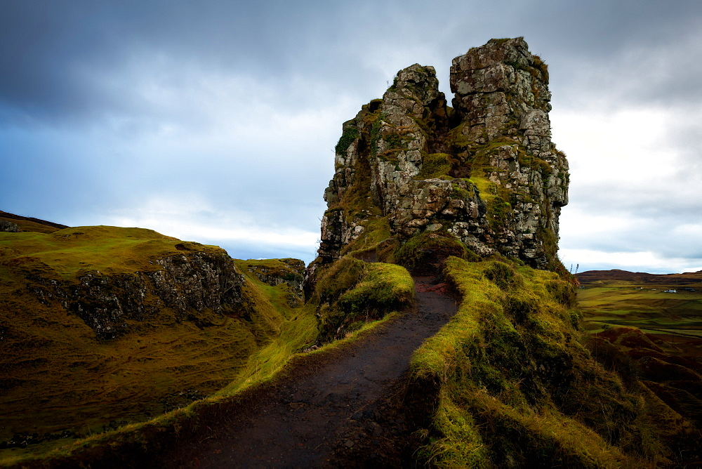 The Castle, Fairy Glen, Isle of Skye, Inner Hebrides, Scotland, United Kingdom, Europe - 1216-283