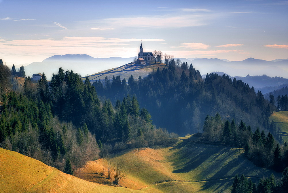 The Church of St. Leonard, Slovenia, Europe