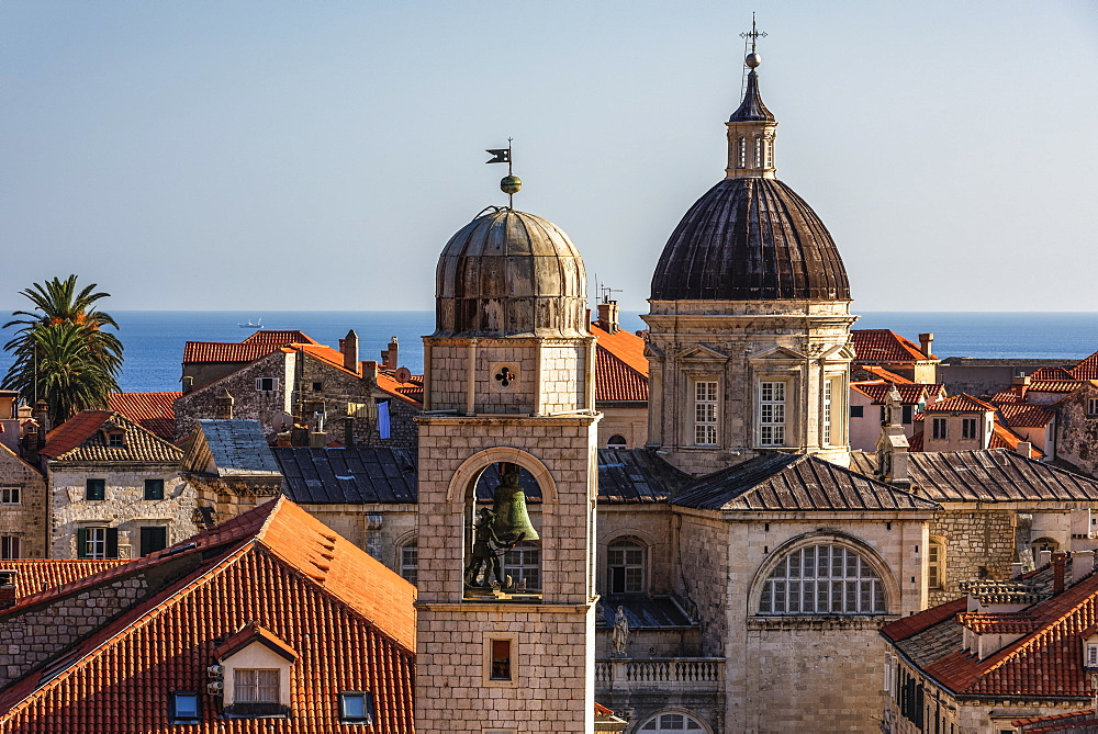 Rooftops of Dubrovnik Old Town, UNESCO World Heritage Site, Croatia, Europe