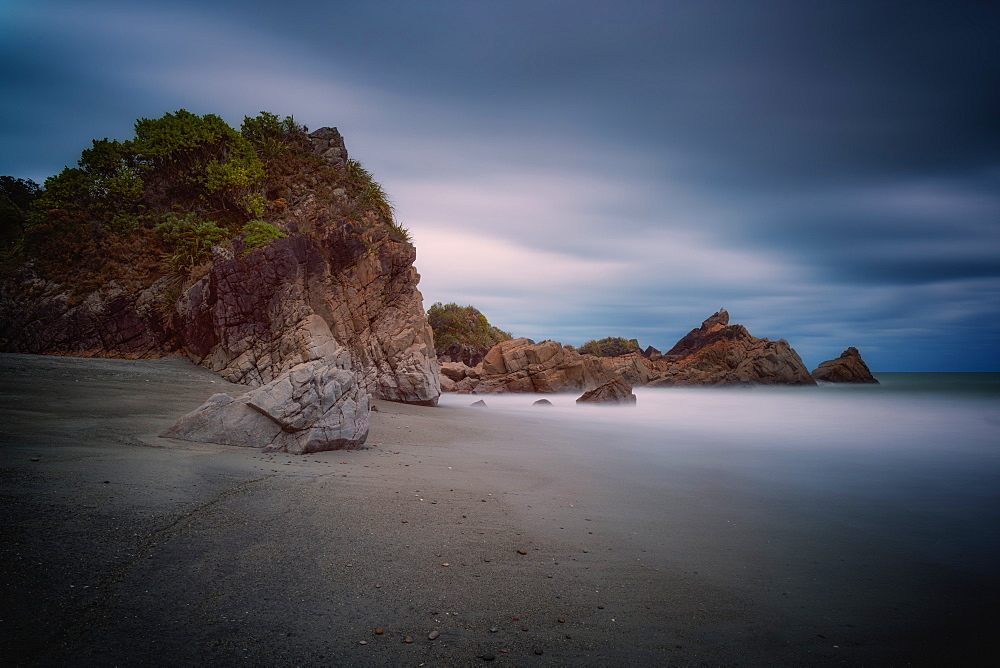 Coastline, Punakaiki at sunset, Paparoa National Park, West Coast, South Island, New Zealand, Pacific - 1216-330