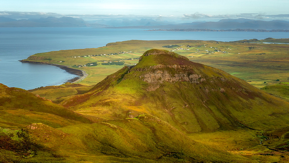Isle of Skye, taken from the Quiraing, Isle of Skye, Inner Hebrides, Scotland, United Kingdom, Europe