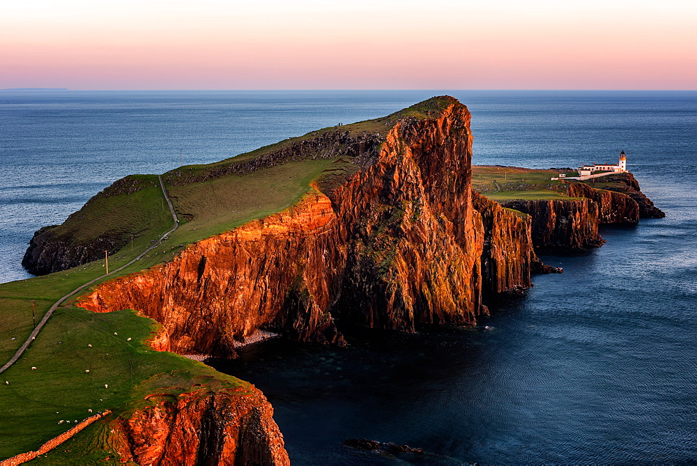 Neist Point at sunset, Isle of Skye, Inner Hebrides, Scotland, United Kingdom, Europe