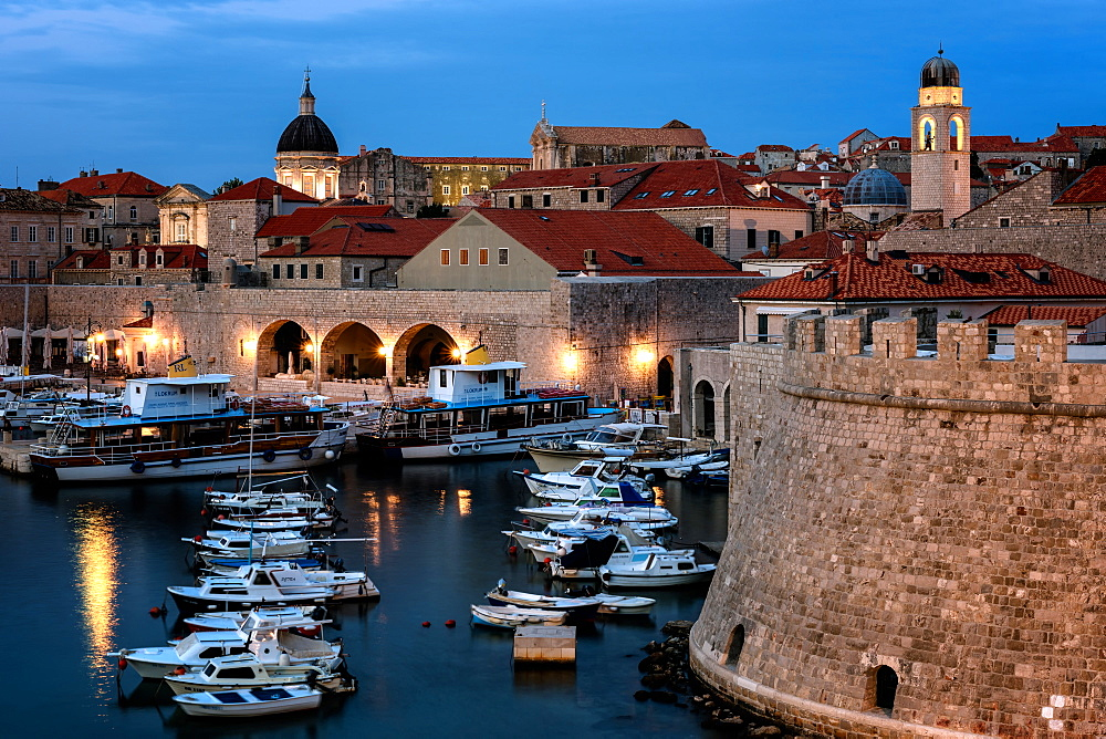 Dubrovnik Harbour, UNESCO World Heritage Site, Croatia, Europe