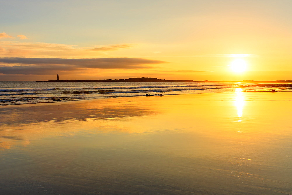 Sunrise at Seacliff Beach, East Lothian, Scotland, UK