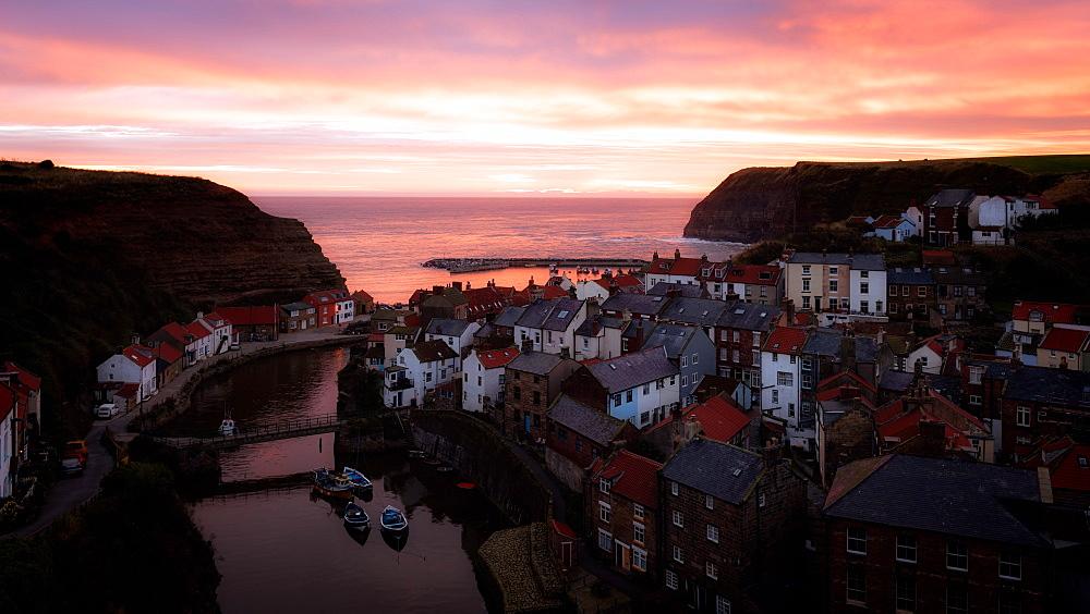 Staithes Sunrise, Yorkshire, England, UK