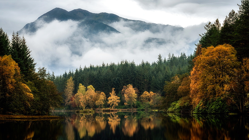 Glencoe Lochan in autumn, Highlands, Scotland, United Kingdom, Europe