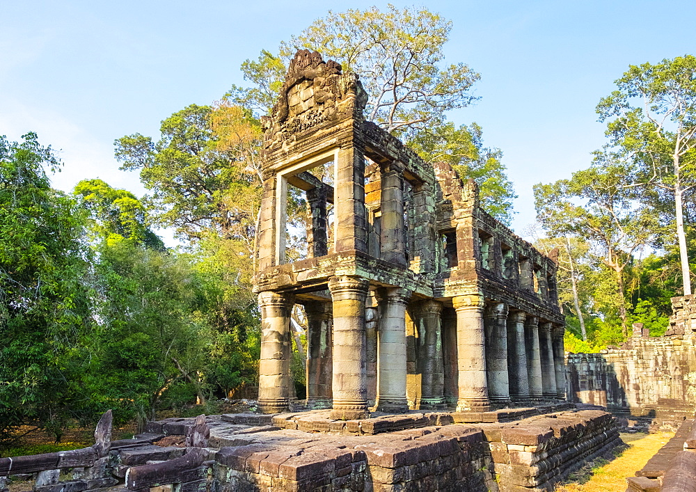 Prasat Preah Khan temple ruins, Angkor, UNESCO World Heritage Site, Siem Reap Province, Cambodia, Indochina, Southeast Asia, Asia