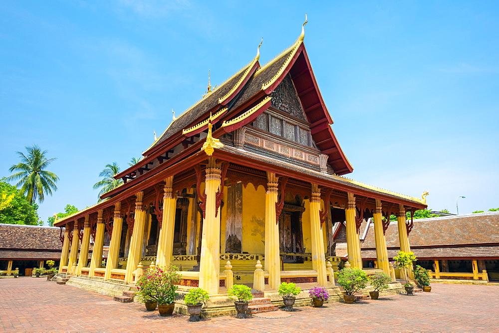 Wat Si Saket (Wat Sisaket) temple, Vientiane, Laos, Indochina, Southeast Asia, Asia