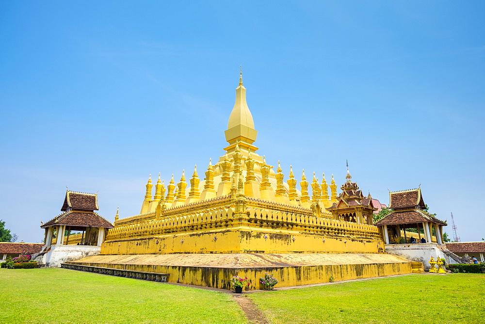Pha That Luang golden stupa, Vientiane, Laos, Indochina, Southeast Asia, Asia