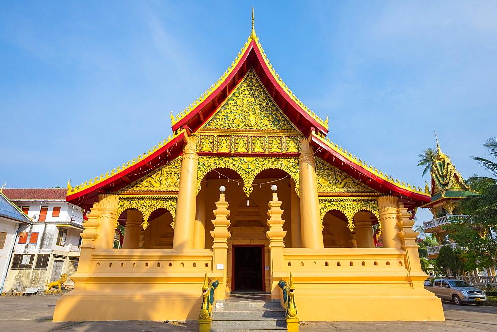 Wat Ong Teu Mahawihan Buddhist temple, Vientiane, Laos, Indochina, Southeast Asia, Asia
