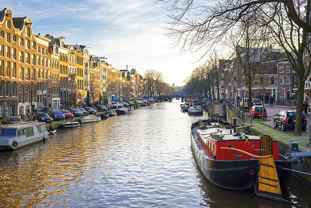 Prinsengracht canal, Amsterdam, North Holland, Netherlands, Europe