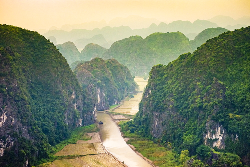 Karst mountain landscape at Hang Mua, Ninh Hai, Hoa Lu District, Ninh Binh Province, Vietnam, Indochina, Southeast Asia, Asia