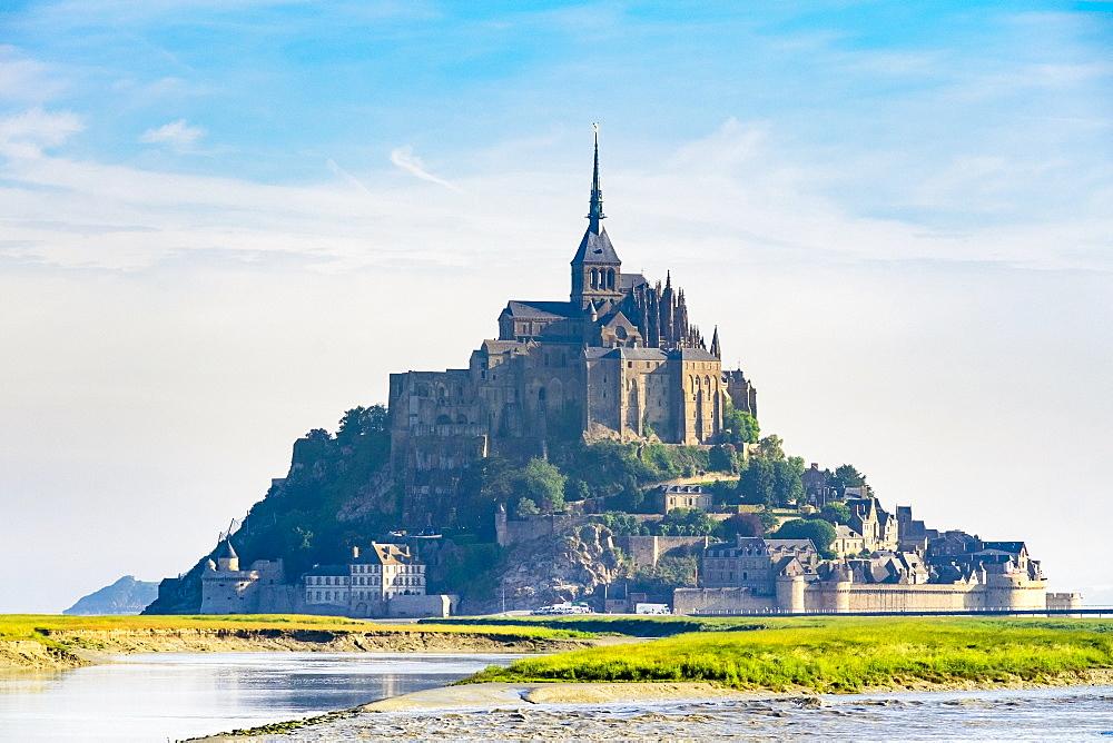 Le Mont-Saint-Michel, UNESCO World Heritage Site, Manche Department, Normandy, France, Europe