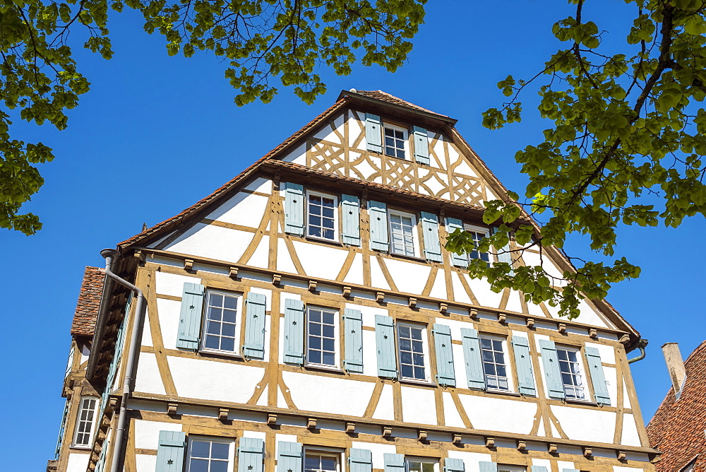 Germany, Baden-Württemberg, Maulbronn. Historic half-timber building in the monastery village.