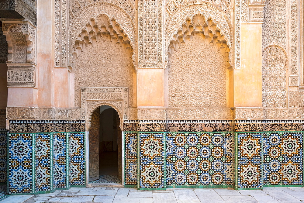 Ben Youssef Madrasa, 16th century Islamic College, UNESCO World Heritage Site, Marrakesh, Morocco, North Africa, Africa - 1217-508