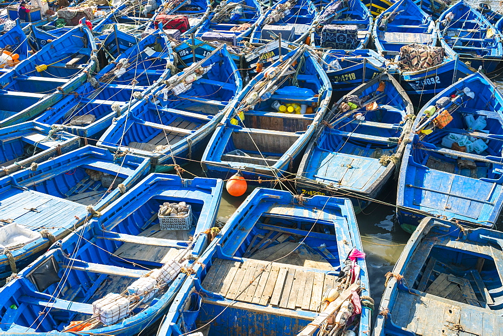 Boats in the fishing port, Essaouira, Marrakesh-Safi region, Morocco, North Africa, Africa