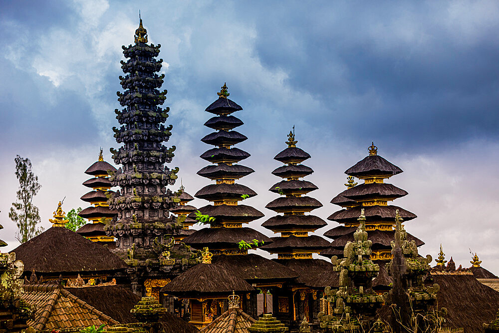 The Besakih Temple, the most important, largest, and holiest temple of Hindu religion in Bali.