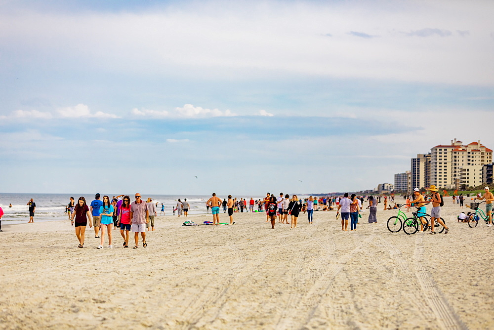 Crowded Jacksonville beach during the Covid-19 Pandemic, Florida, United States of America, North America - 1218-1297