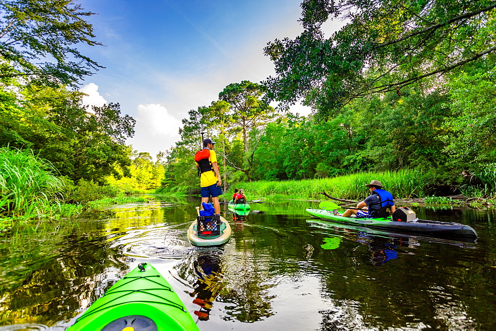 Kayaking through Cane Bayou. - 1218-1325