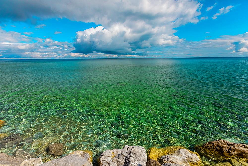Crystal clear water of Lake Huron, Mackinac Island, Michigan, United States of America, North America - 1218-1395