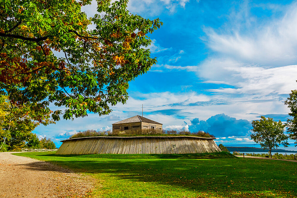 Fort Holmes on a sunny day on Mackinac Island, Michigan, United States of America, North America - 1218-1398
