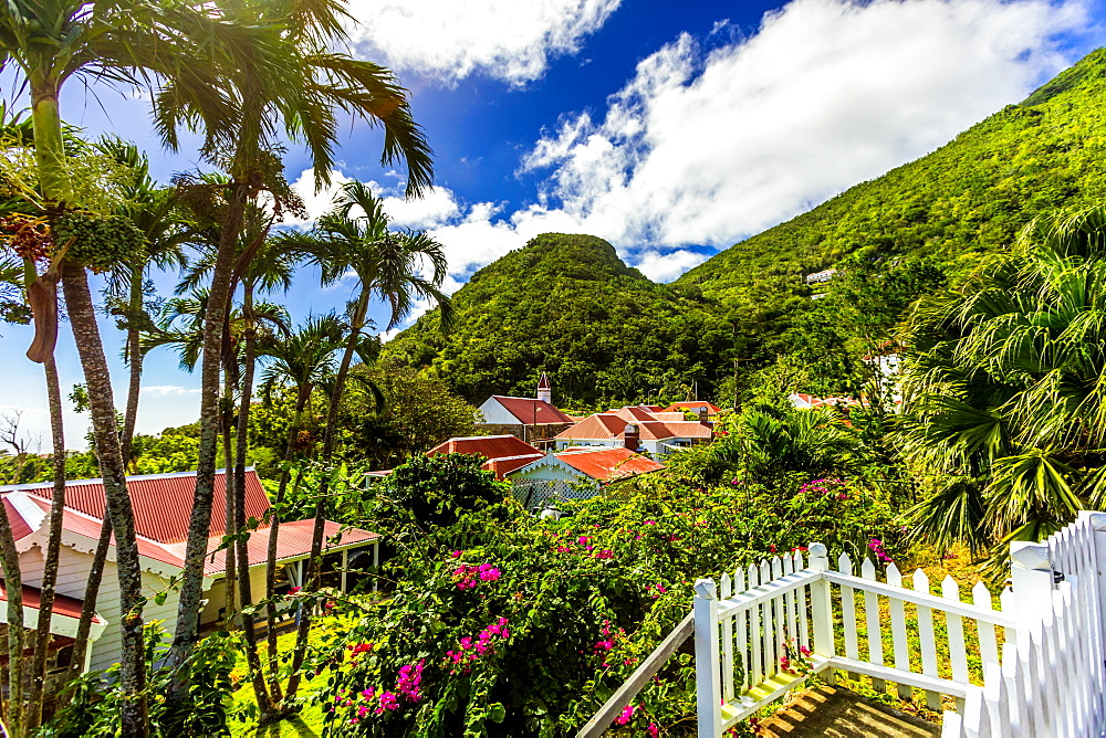 Scenery in Saba, a Caribbean island, the smallest special municipality of the Netherlands, Caribbean, Central America - 1218-607