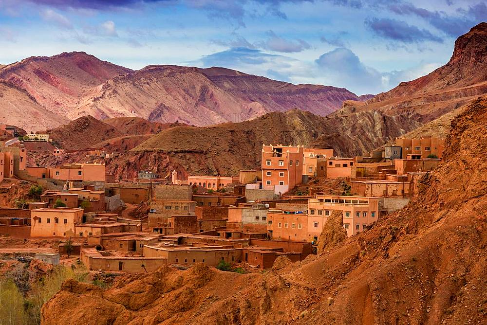 Dades Gorges scenery, Morocco, North Africa, Africa