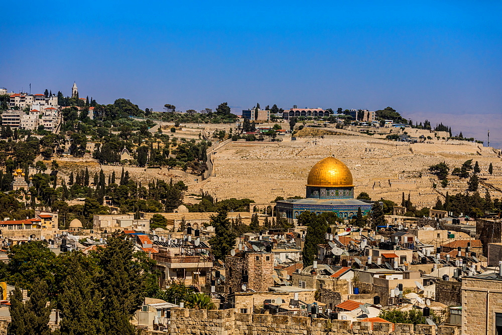 Dome of the Rock, UNESCO World Heritage Site, Old City, Jerusalem, Israel, Middle East - 1218-686