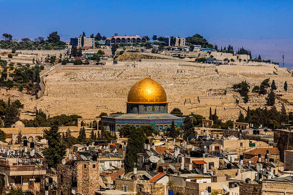 Dome of the Rock, UNESCO World Heritage Site, Jerusalem, Israel, Middle East - 1218-689
