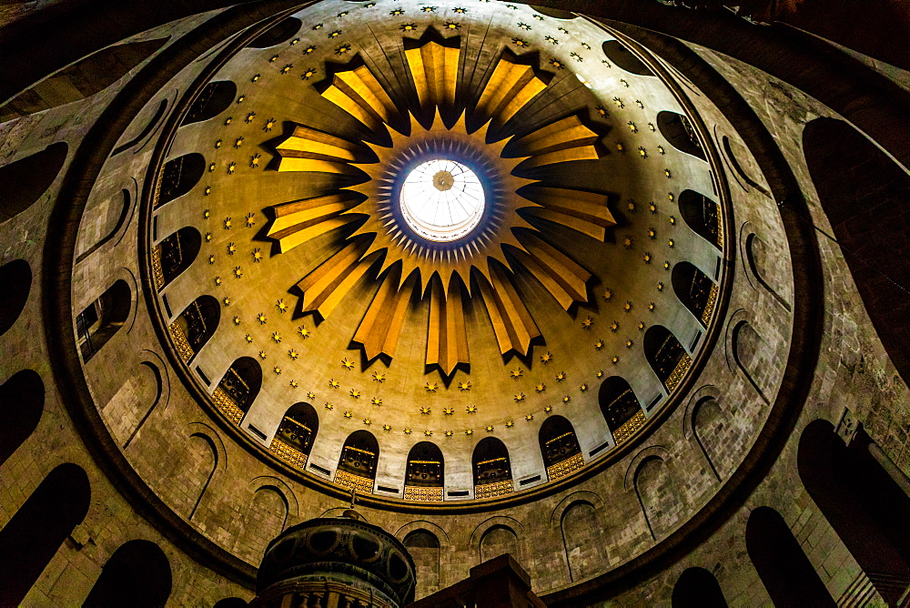 Church of the Holy Sepulchre ceiling, Old City, Jerusalem, Israel, Middle East