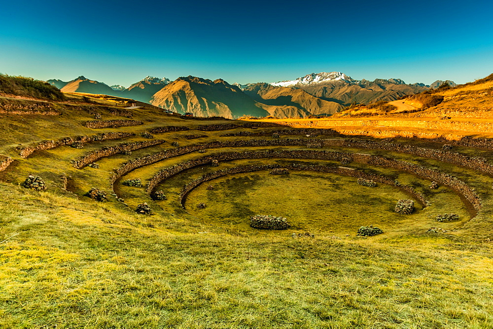 The ancient Incan citadel of Pisac in the Sacred Valley, Peru, South America